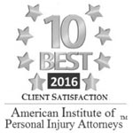 American Institute of Personal Injury Attorneys - 2016 10 Best Award