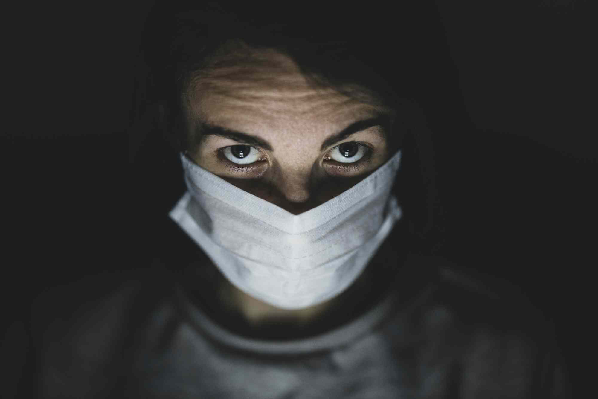 COVID-19 - Man wearing mask